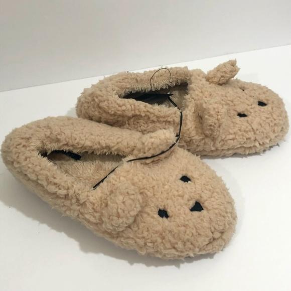 Nwt Forever 2 Teddy Bear Slippers Sz